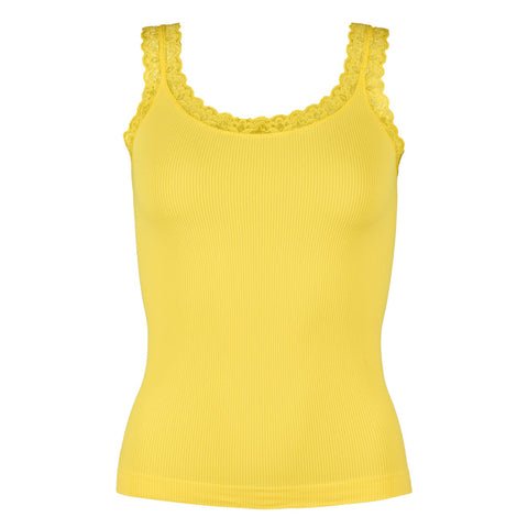 Rib microfiber top · Yellow