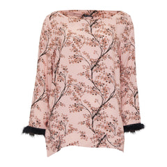 Annalise bluse · Check Rose