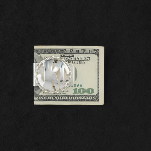 Monogram Money Clip-Large Disc