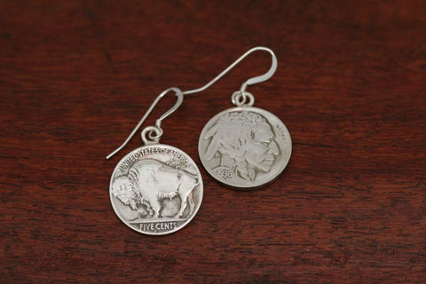 Buffalo / Indian Coin Earrings