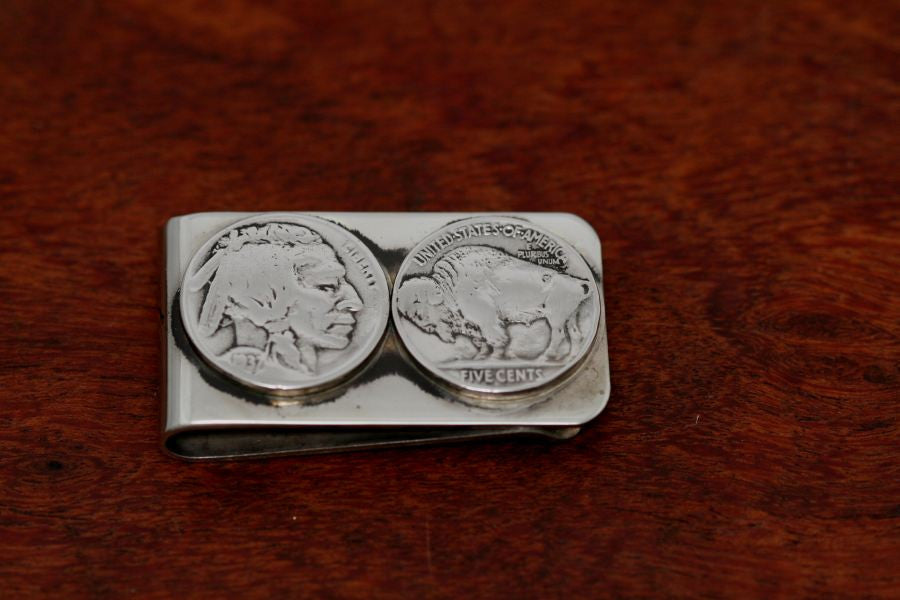 Buffalo and Indian Money Clip