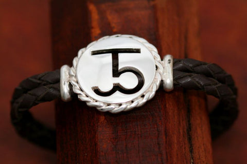 Brand-It Large Disc with Rope Trim on a Casual Upscale Bracelet