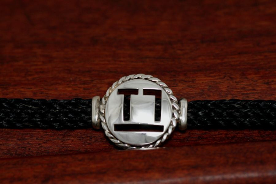 Brand-It Medium Disc with Rope Trim on a Casual Upscale Bracelet
