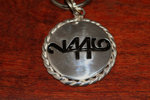 Brand-It Key Chain- Cinco Peso Coin with Rope Trim