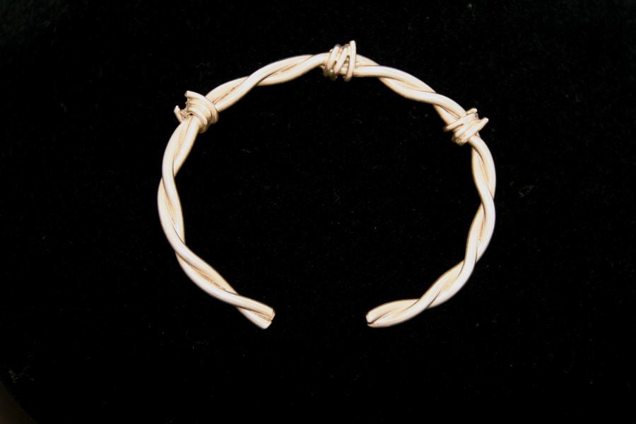 Barbed Wire Bracelet in Sterling - Female -Large