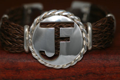 Brand-It Extra Large Disc with Rope Trim on a Casual Upscale Bracelet