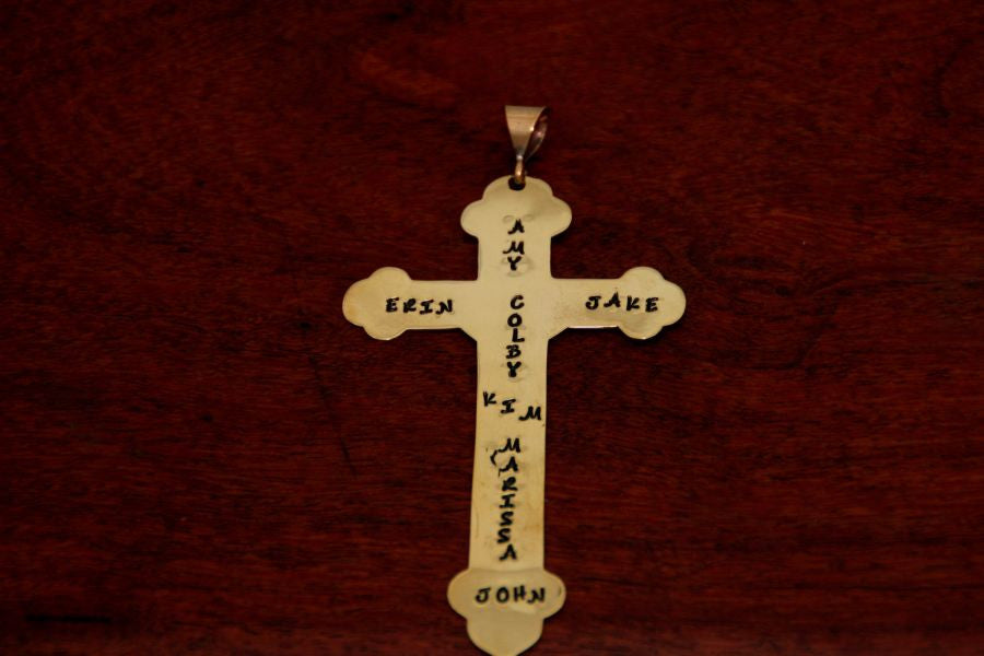 Silhouette of Cross of Coronado in Brass - Large
