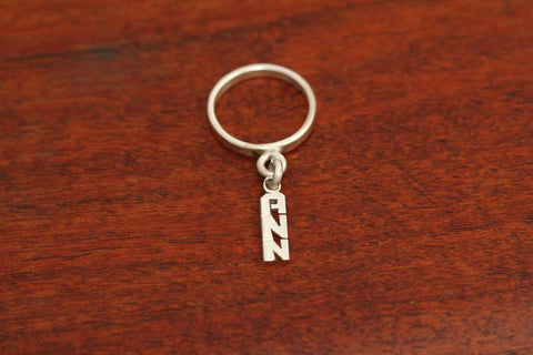 Charm Rings-Personalized with Handcut Initials