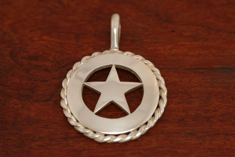 Cinco Peso Star Pendant with Rope Trim