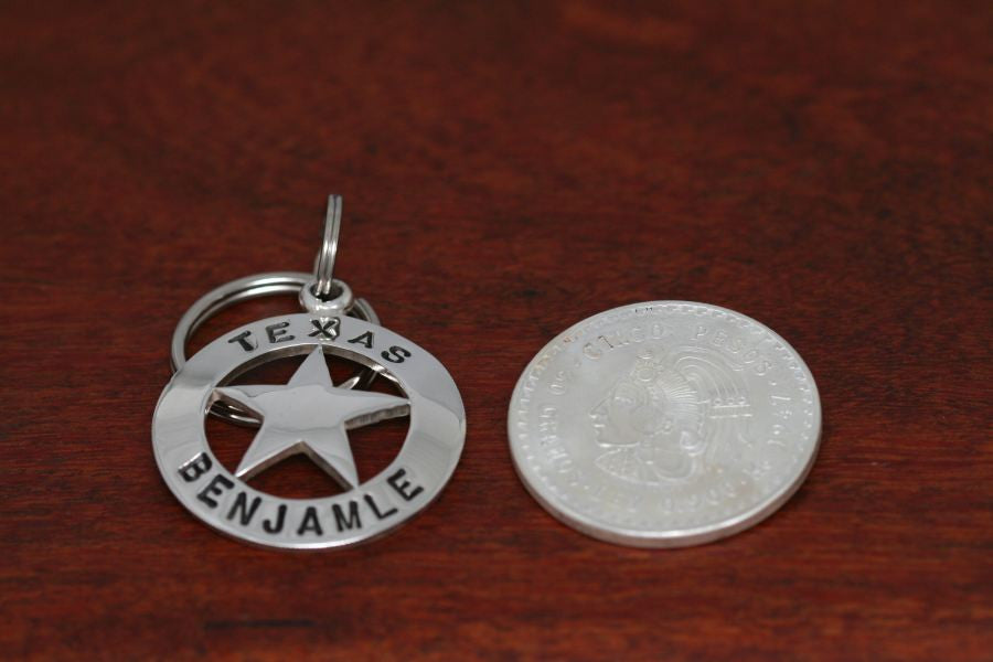 Cinco Peso Star-Keychain