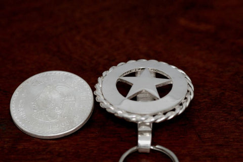 Cinco Peso Star Pocket Fob with Rope Trim