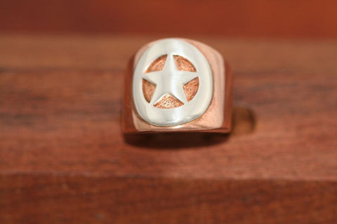 Copper Star Ring