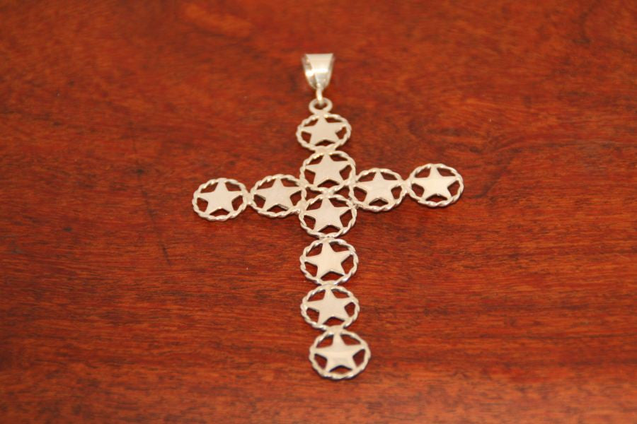 Shooting Star Cross Pendant