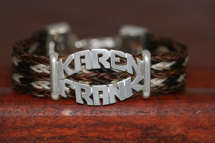 Double Name Bracelet-Clamped