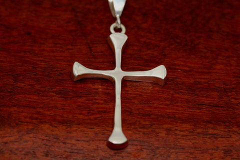 Four Point Cross Pendant in Sterling-Large