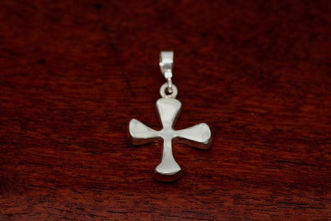 Four Point Cross Pendant in Sterling-Small