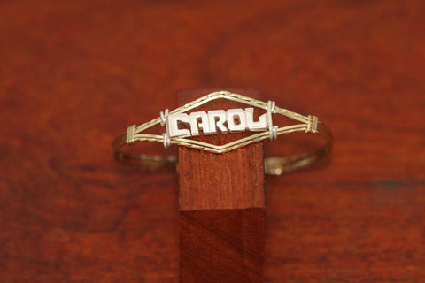 Gold-Filled Wire Bracelet with Small SS Name