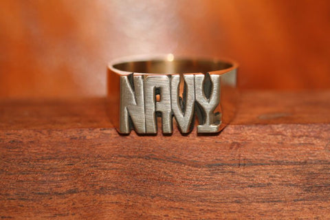 Handcarved Extra Heavy Brass Ring