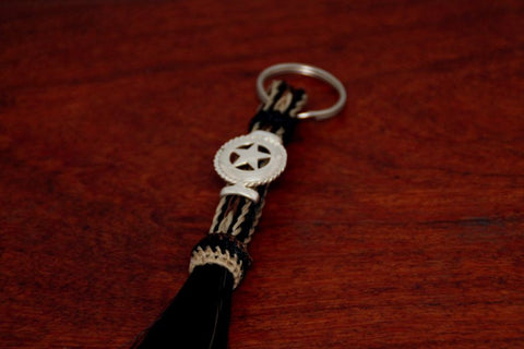 Horsehair Keychain with a Star