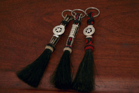 Horsehair Key Chain with a Small Name