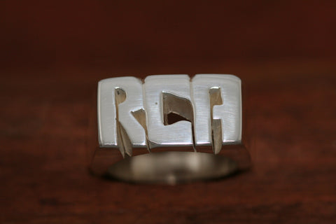 Handcarved Extra Heay Sterling Silver Ring