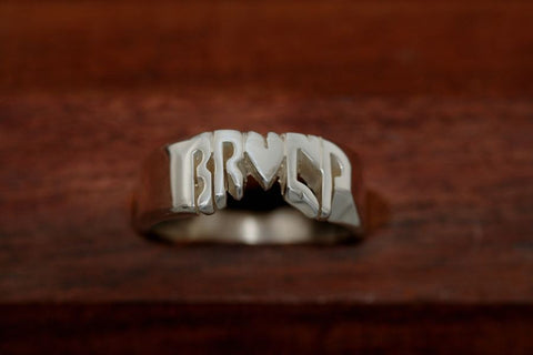 Handcarved Heavy Sterling Silver Ring