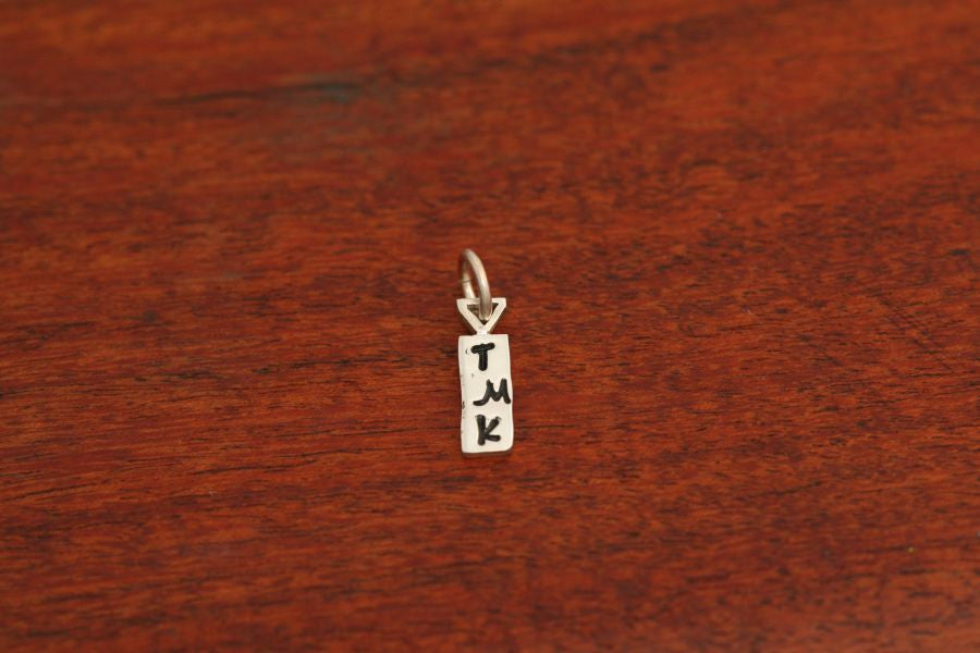 Initial Charm Stamped