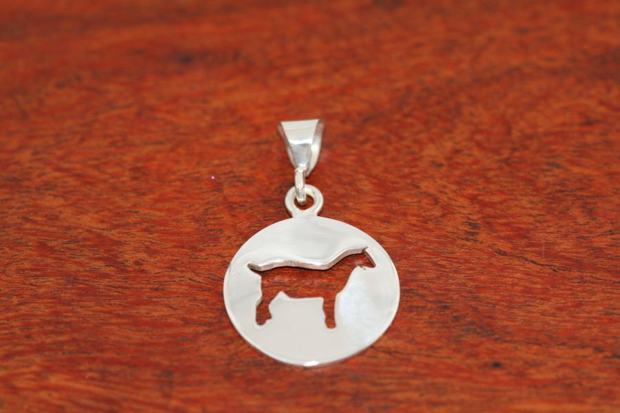 Large Goat Disc-Pendant