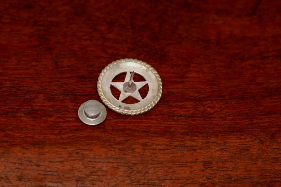 Large Texas Lapel or Hat Pin with Rope Trim