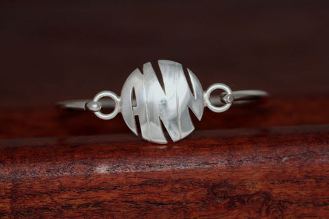 Monogram Large Charm on a Bangle Bracelet