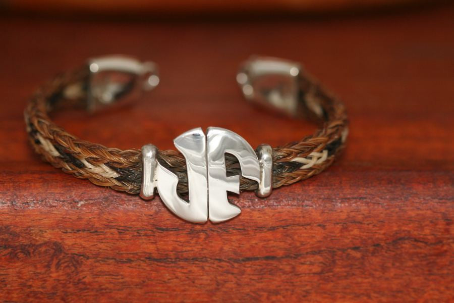 Large Monogram Charm on a Casual Upscale Bracelet