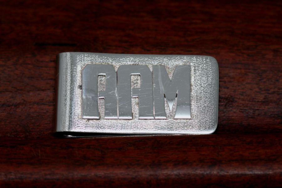 Sterling Initial Money Clip