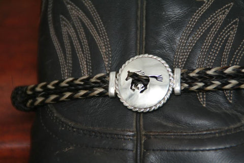 Large Running Horse Disc with Rope Trim -Charm on a Boot Bracelet
