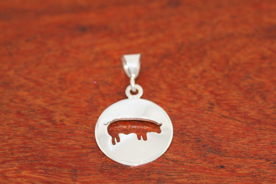 Large Swine Disc-Pendant