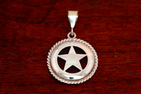 Large Star Pendant with Rope