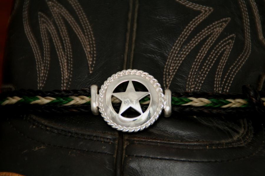 Large Star with Rope Trim on a  Horsehair Boot Anklet