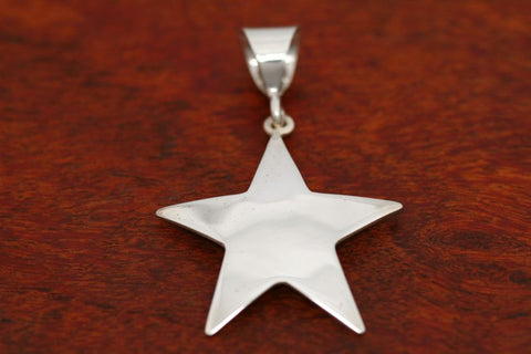 Large Shooting Star Pendant in Sterling