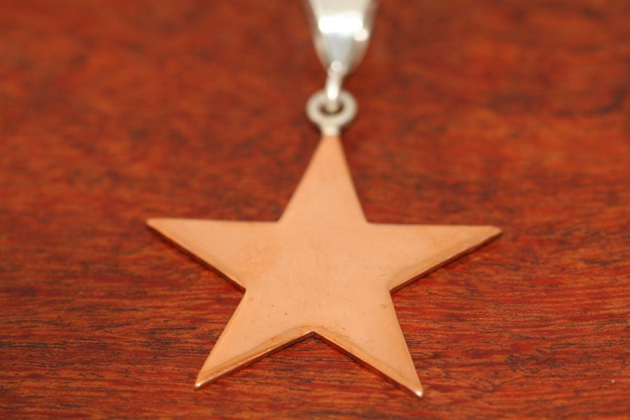 Large Shooting Star Pendant in Copper