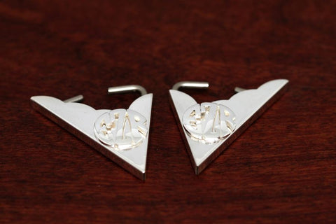 Monogram Collar Tips-Sterling Silver