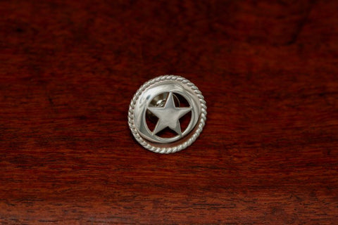 Medium Texas Star Lapel or Hat Pin with Rope Trim
