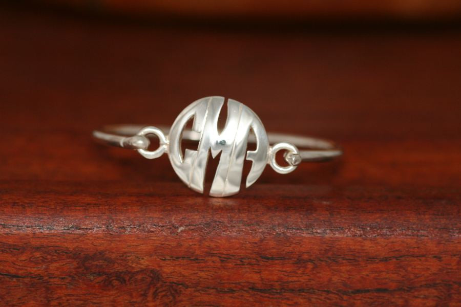 Monogram Medium Charm on a Bangle Bracelet