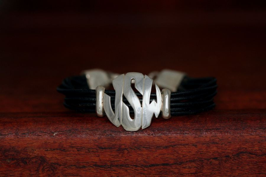 Medium Monogram Charm on a Casual Upscale Bracelet