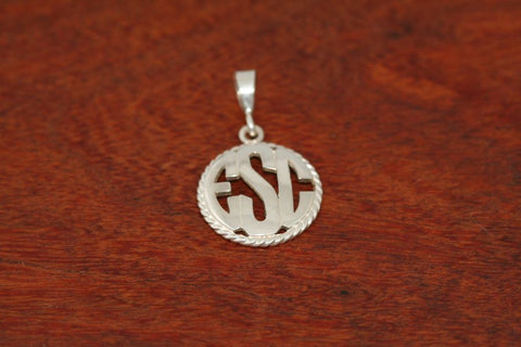 Monogram Pendant - Large Size with a Rope Bezel