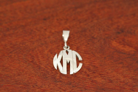 Monogram Pendant - Medium Size