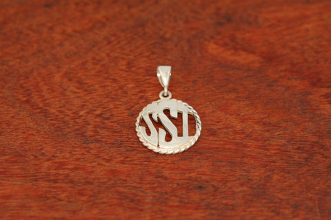 Monogram Pendant - Medium Size with a Rope Bezel