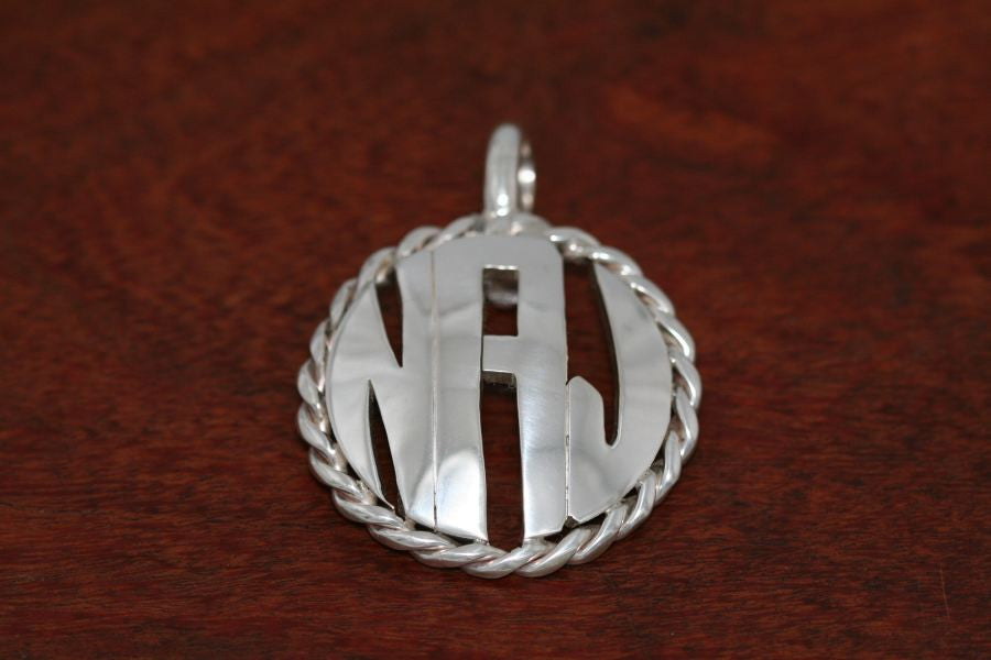Monogram Pendant - Morgan Dollar with Rope Bezel