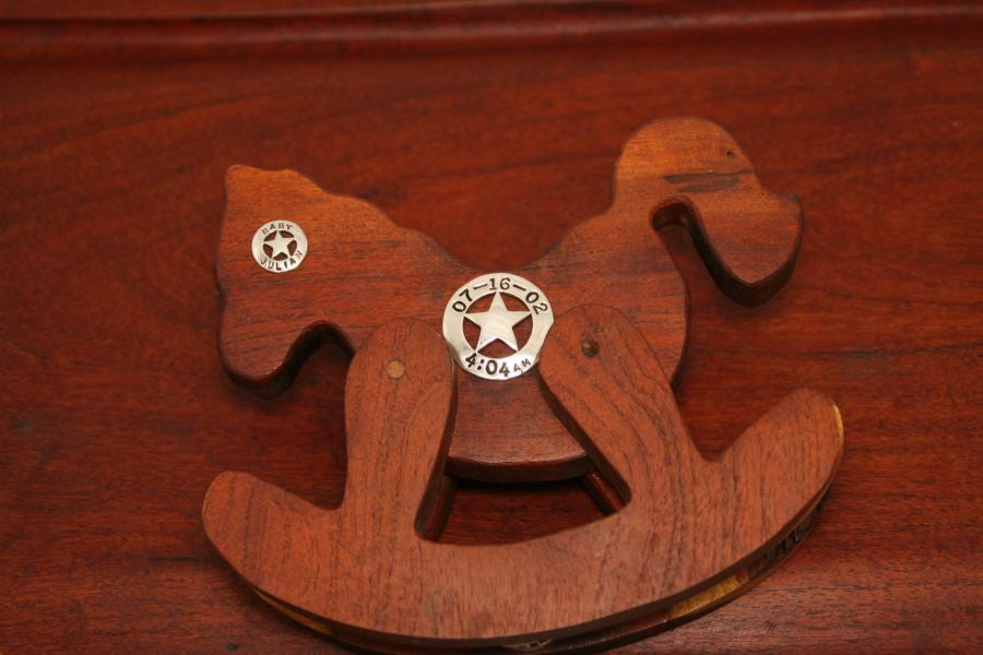 Mesquite Rocking Horse with Stars