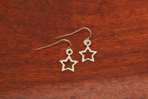 Mini Shooting Star in Star Earrings in Sterling