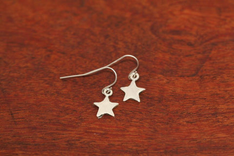 Mini Shooting Star Earrings in Sterling