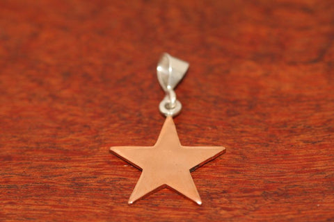 Medium Shooting Star Pendant in Copper